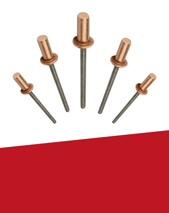 Copper/Steel Sealed End Rivets