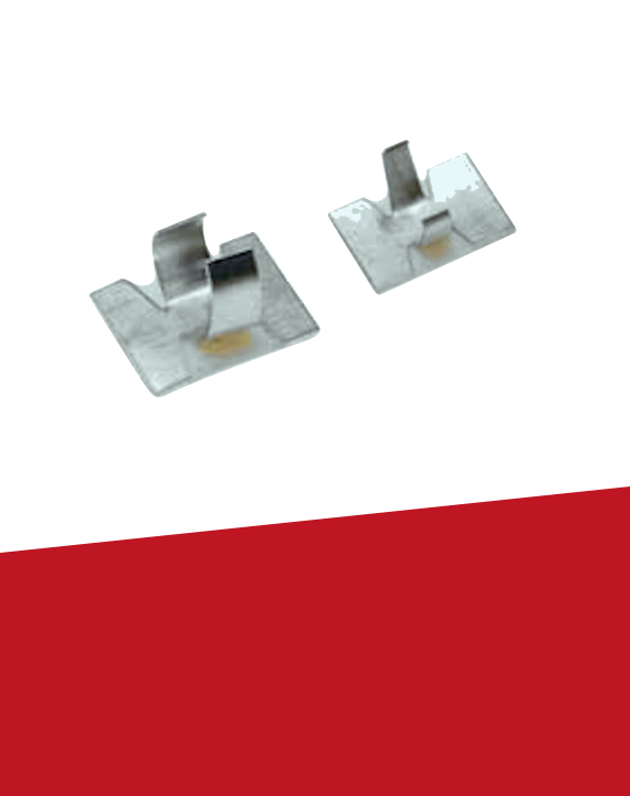 Alum Self Adhesive Cable Clips